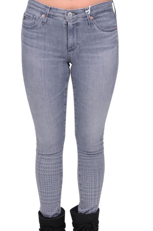 AG Jeans - Legging Ankle mit Hahnentrittoptik am Bein