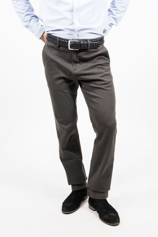 7 For All Mankind - Herren Slimmy Chino Luxe Performance dark grey