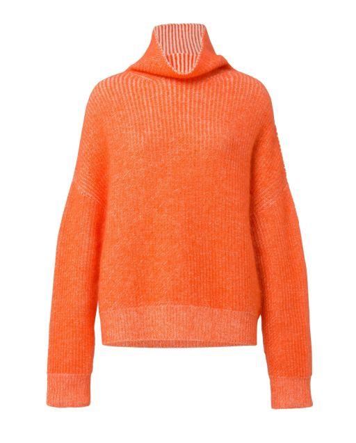 Dorothee Schumacher - Pullover mit Rollkragen-Silhouette Orange