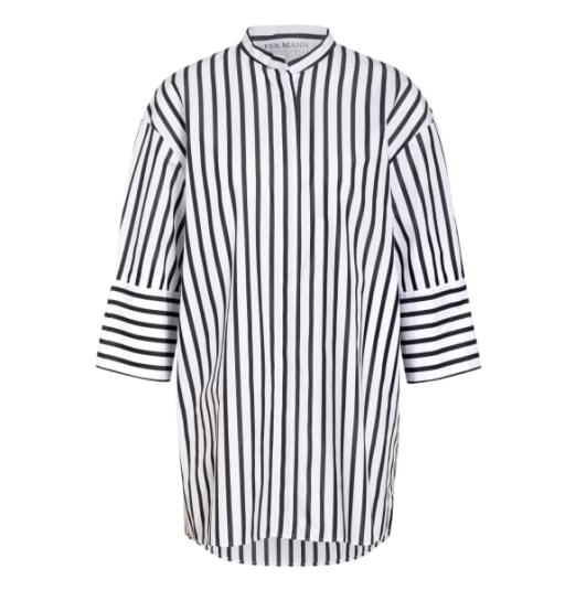 Eva Mann - Lockere Bluse mit Streifen