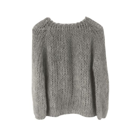 Another Me - Strickpullover Ash Grey