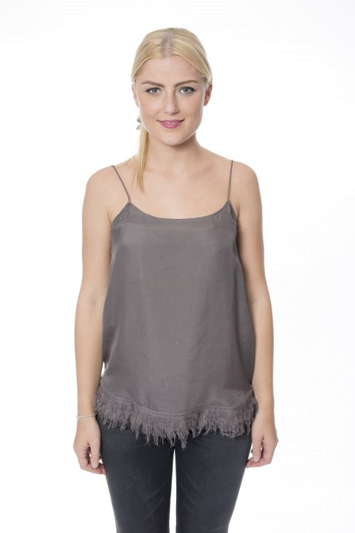 Dorothee Schumacher - Furry Lightness Seidentop Anthrazit