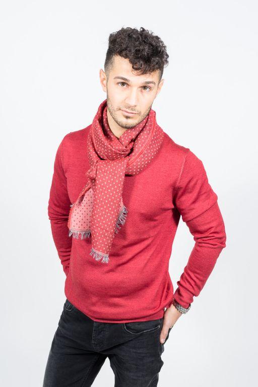 René Lezard - Herren Pullover dark red