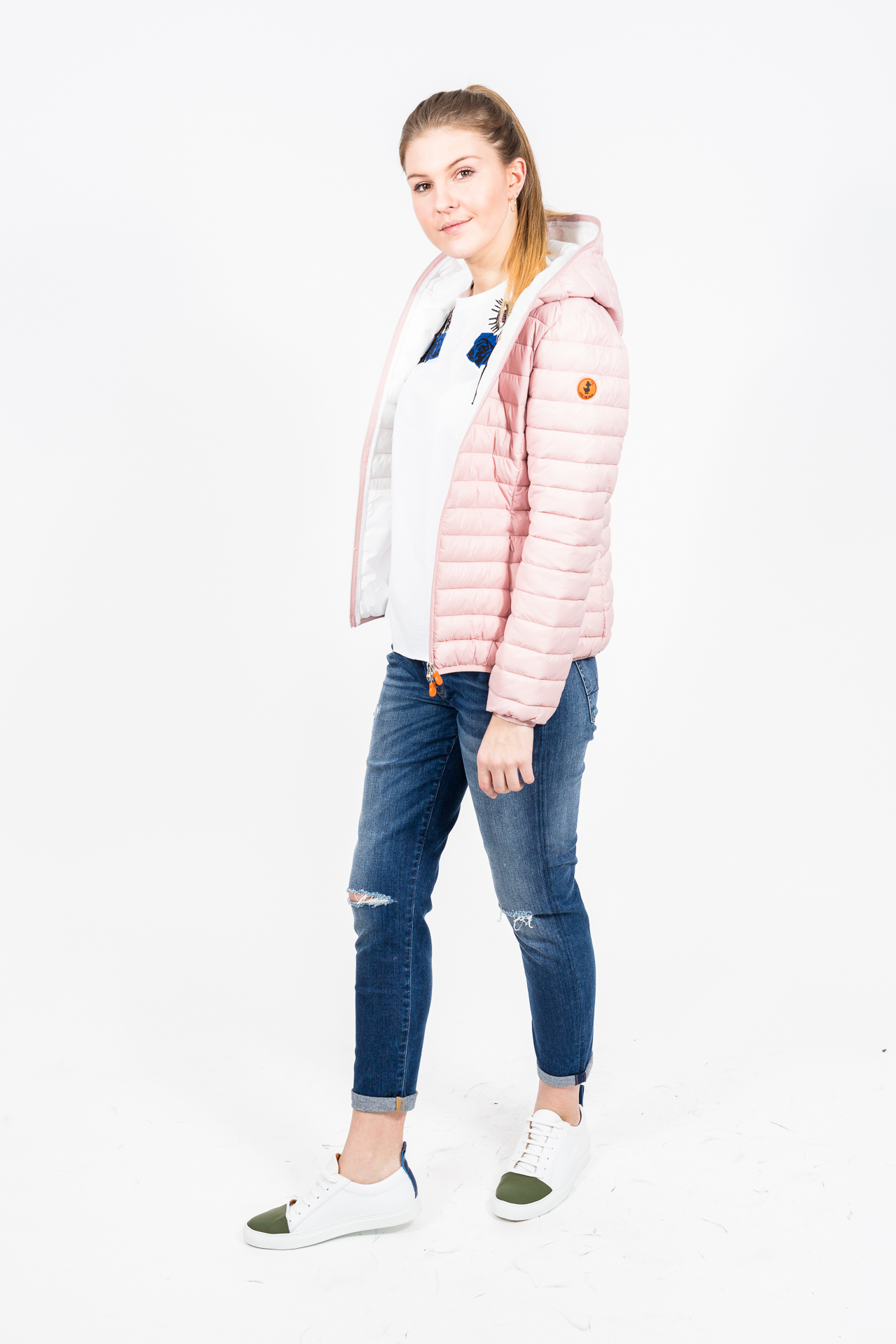 Save The Duck Wattierte Steppjacke mit Kapuze blush pink