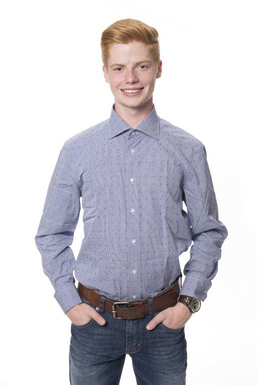 René Lezard - Aufregendes Herren Hemd mit Minikaromuster aus Baumwolle