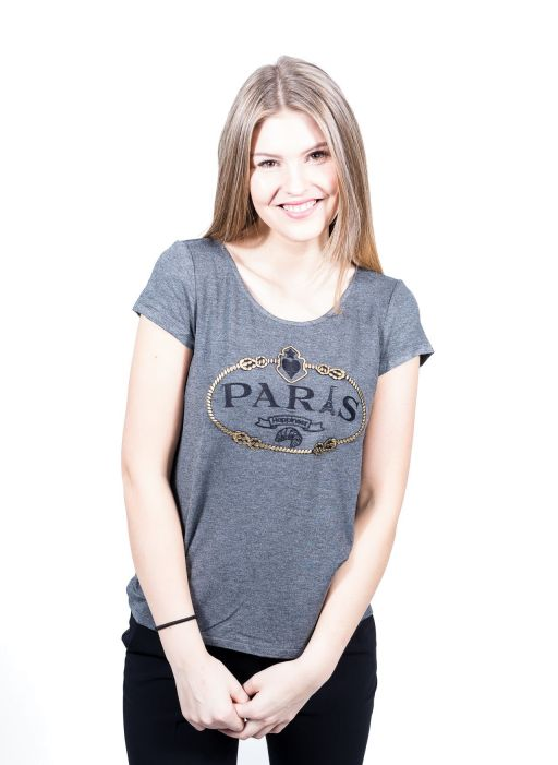 "Happiness - T-Shirt Splendida ""Paris"" anthrazit"