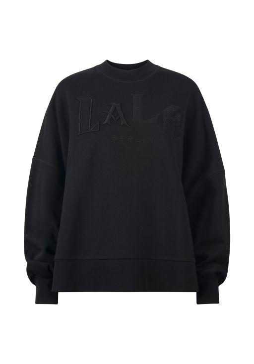 lala Berlin - Sweatshirt in großer Passform black