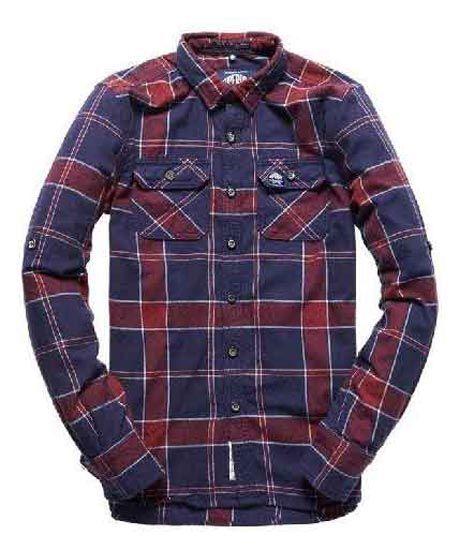 Superdry - Herren Refind Lumberjack Shirt Navy Tundra Grindle Check