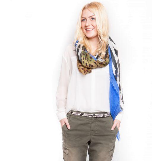 Dorothee Schumacher - 2 teiliger Edge Double Gürtel aus Ziegenleder mit Snake-Print