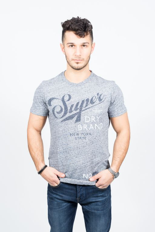 Superdry - Herren Dry Band Tee steel grey grindle