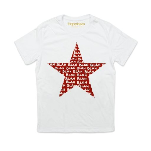 "Happiness - Herren T-Shirt Splendida ""Stella rossa"" weiß"