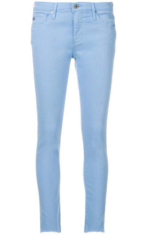 AG Jeans - Legging Ankle bleu