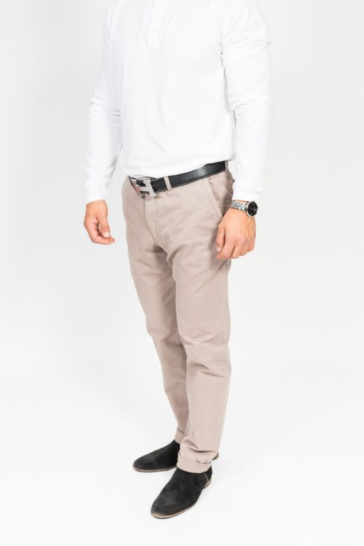 Rene Lezard - Baumwollgarbadine Herrenhose in beige