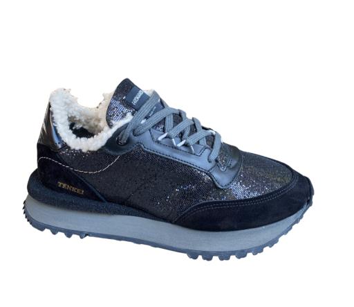 Hidnander - Sneaker Tenkei Shearling Black Sparkle