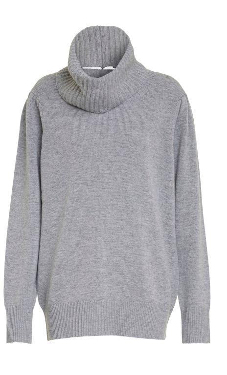 Dorothee Schumacher - Pullover mit einem abnehmbaren Rollkragen grau