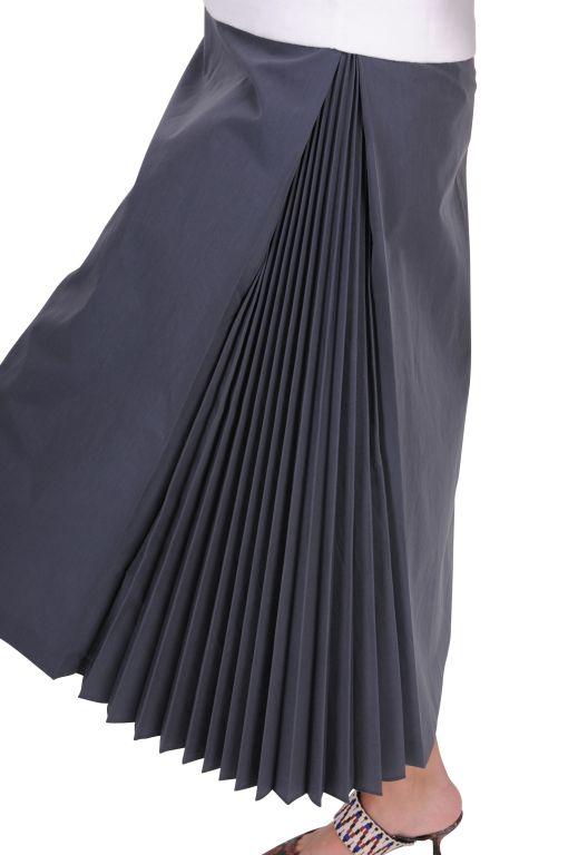 Fabiana Filippi - Baumwollrock mit seitlichen Falten