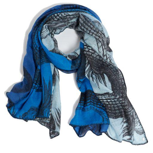 Friendly Hunting - Kashmirtuch Patch blue-black