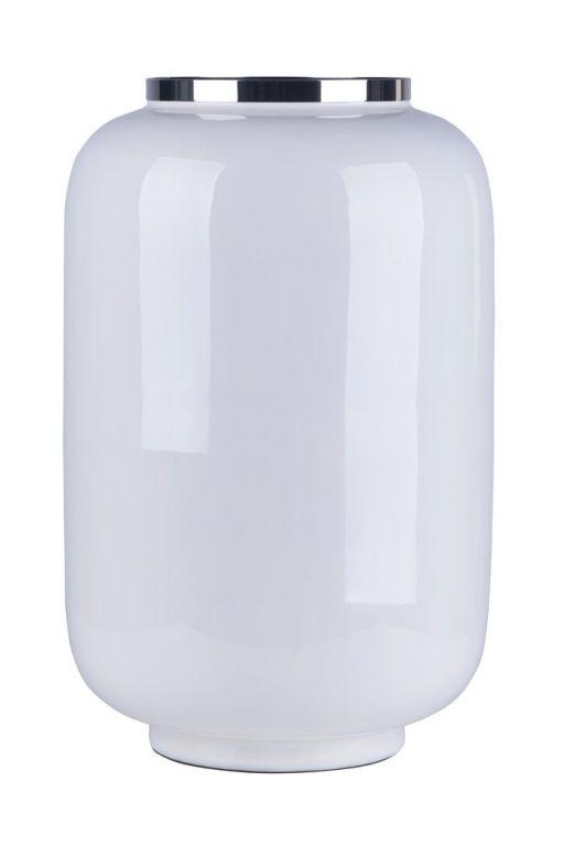 Saigon Vase weiß/silber