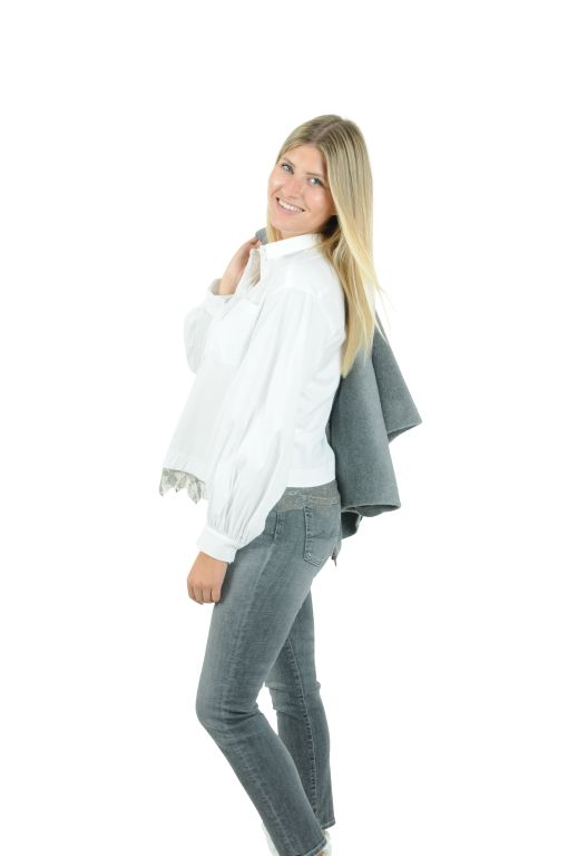 Fabiana Filippi - Bluse mit Spitzendetails