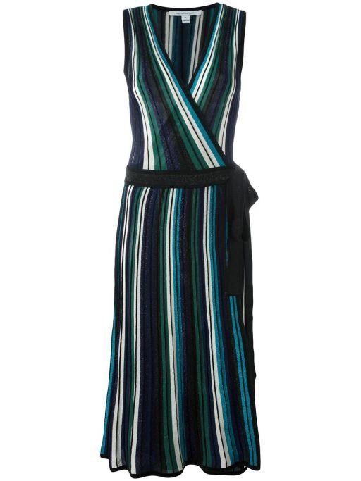 Diane von Fürstenberg - Wickel Kleid mit Lurex Garn