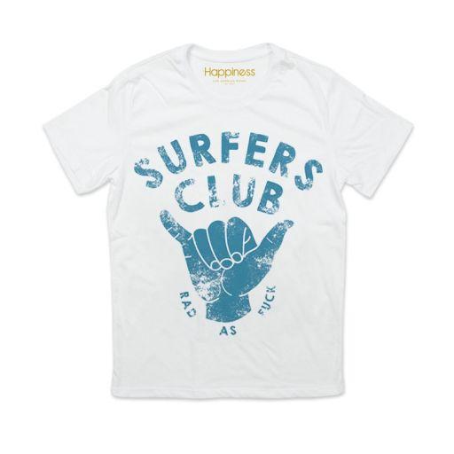 """Happiness - T-Shirt Splendida """"Surfers Club"""" weiß"""