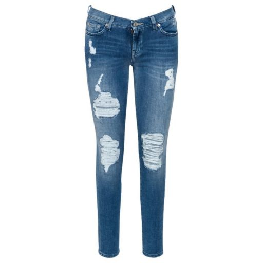 7 For All Mankind - The Skinny NY Light Distressed 26
