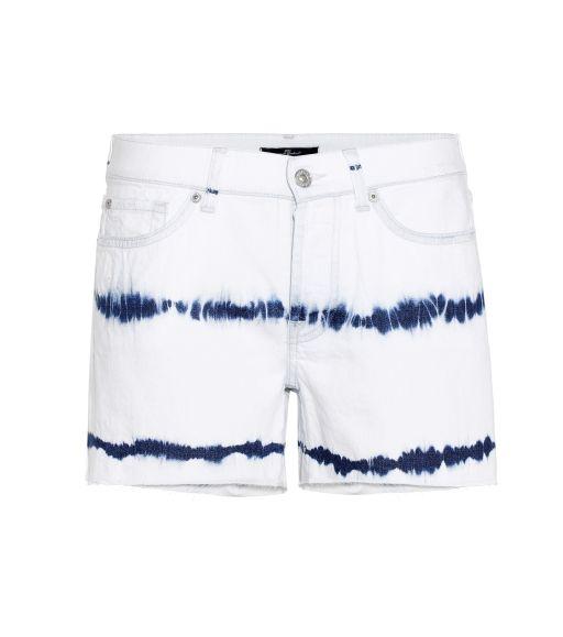 7 For All Mankind - Jeans Short Slouchy Batik Shorts weiß-blau