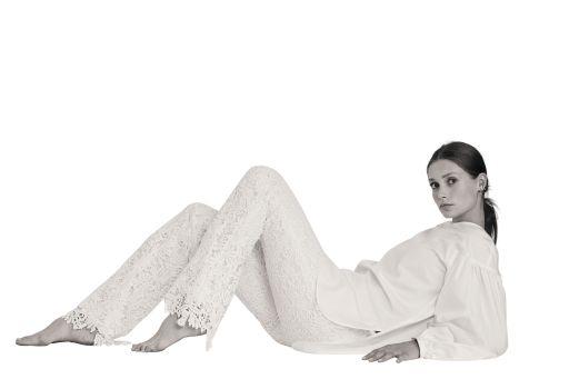 Eva Mann - Spitzenhose white