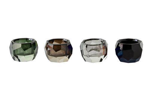 Teelichter Palisades braun, grau, schwarz, grün