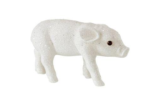 Schweinchen Glitzer weiß M