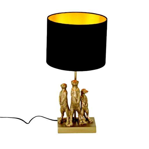 Tischleuchte Erdmännchen gold/ schwarz