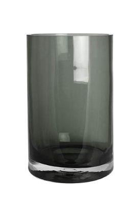 Glaszylinder grau groß