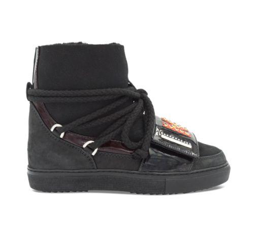 Inuikii - Boots schwarz mit buntem Logo