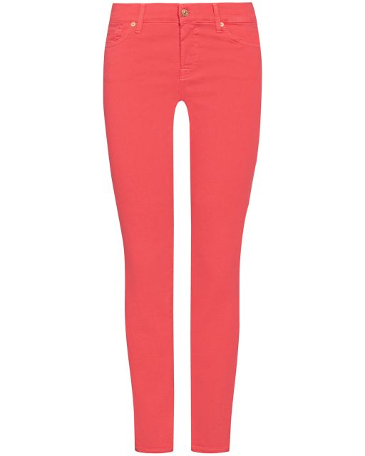 7 For All Mankind - Jeans mid rise roxanne crop coral