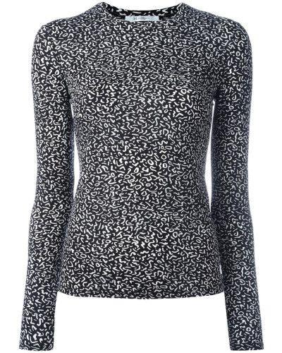 "MaxMara - Langarm Shirt ""Diletta"" schwarz weiß"