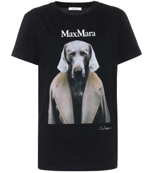 Max Mara - T-Shirt mit Foto - Print in schwarz