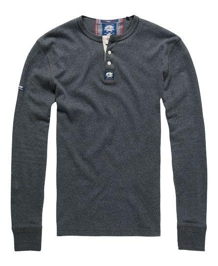 Superdry - Herren Heritage L/S Grandad Shirt navy