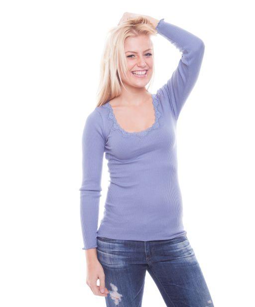 Rosemunde Langarmshirt mit Spitze vintage blue