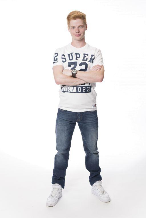 Superdry - Trackster Tee T-Shirt weiß/blau aus Baumwolle