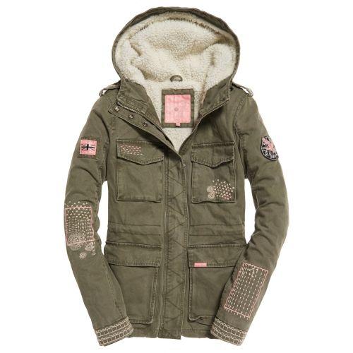 free shipping 99940 ac288 Superdry - Jacke khaki mit Details