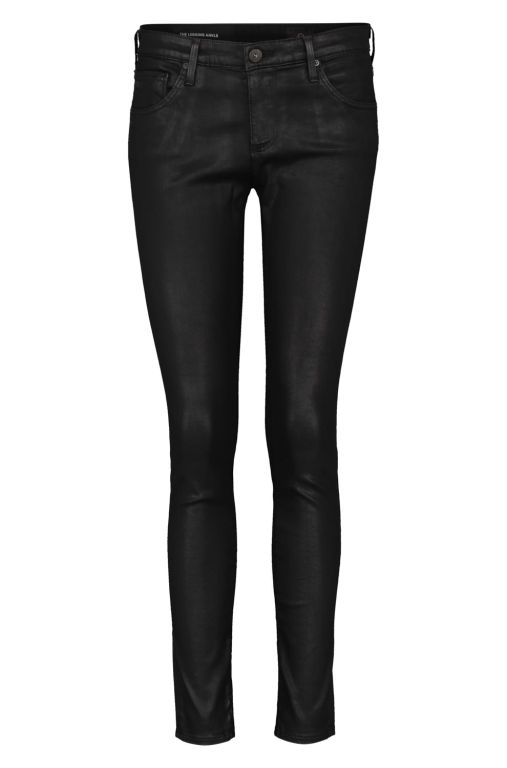 AG Jeans - The Legging Ankle Leather look schwarz
