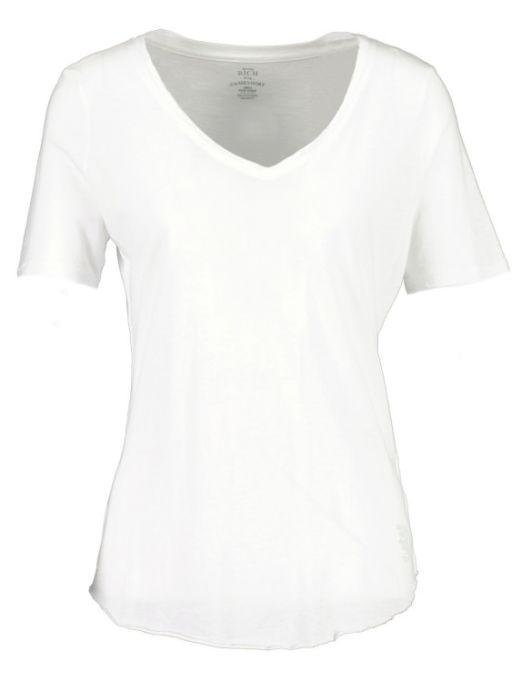 Better Rich - T-Shirt mit abgerundetem Saum weiss