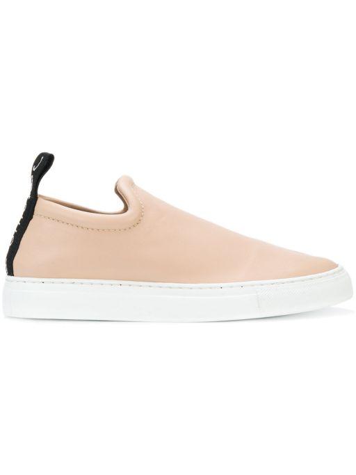 Joseph - Nappa Stretch Sneaker Pearl