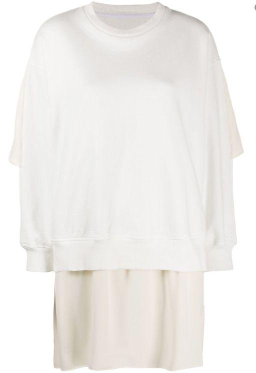 MM6 Maison Margiela - Pulloverkleid mit Seidendetails