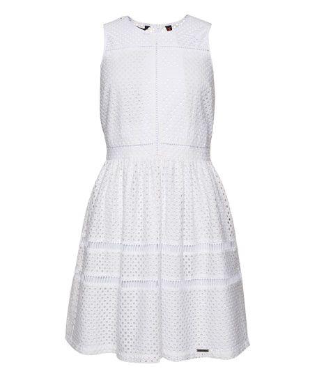 Superdry - Mix Skater Dress white