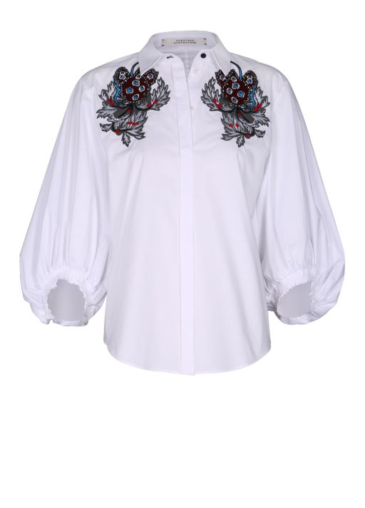 Dorothee Schumacher - Cool Volume Bluse mit Stickerei
