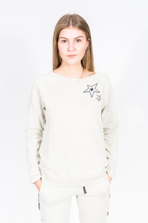 Juvia - Sweatshirt mit Sternapplikationen