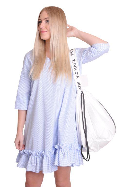 Eva Mann - Baumwollkleid mit Rüschen