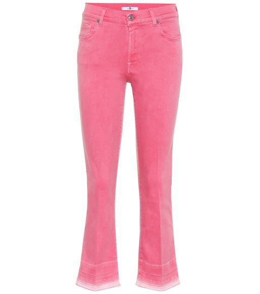 7 For All Mankind - Cropped Jeans pink