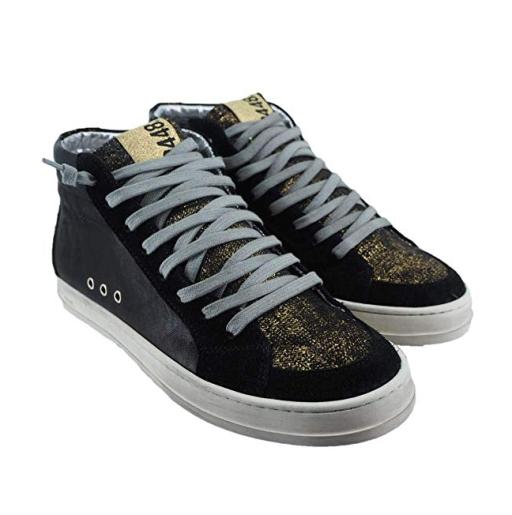 P448 - Sneaker Skate schwarz/gold